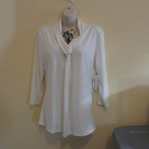 NWT - GRACE Ivory knit top - sz XL - MSRP $58.00